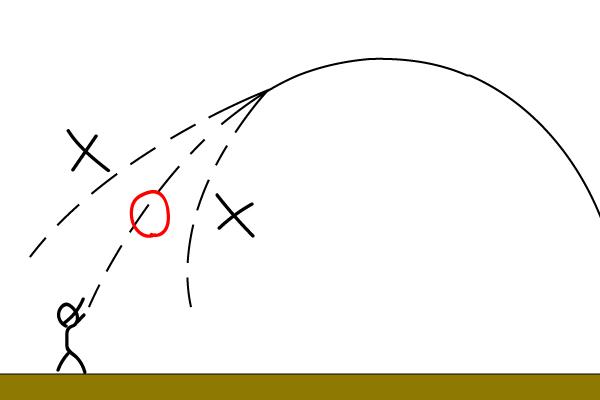 フライの軌道